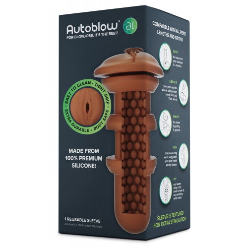 Autoblow A.I. - silicone replacement insert - sleeve (brown)